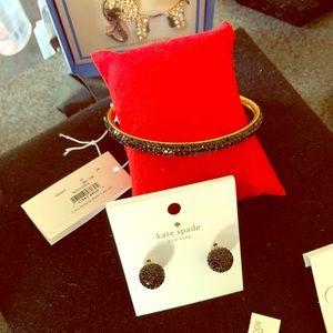 Kate Spade earrings and matching bracelet!!!